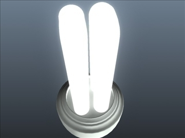 cfl tubular light 001 3d model 3ds max ma mb obj 102310