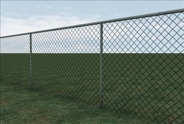 chainlink fence 3d model 3ds c4d texture 86859