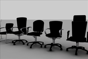 krēslu sortiments 3d modelis 3ds c4d tekstūra 86899