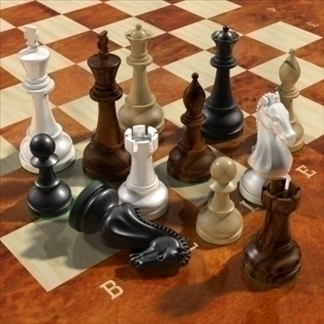 chess_exclusive 3d загвар 3ds max 92929