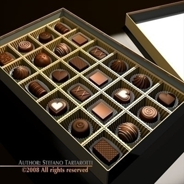 chocolate box 3d model 3ds dxf c4d obj 86749