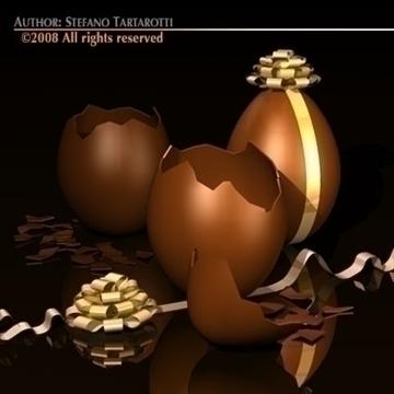 čokoladna jaja 3d model 3ds dxf c4d obj 87924