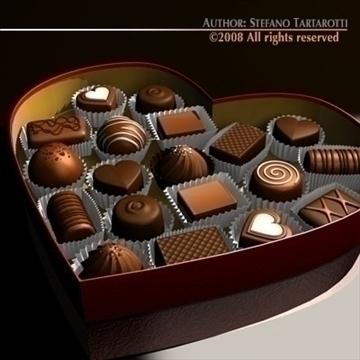 шоколад хайрцаг Valentine 3d загвар 3ds dxf c4d obj 86733