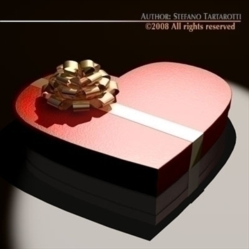 шоколад хайрцаг Valentine 3d загвар 3ds dxf c4d obj 86734