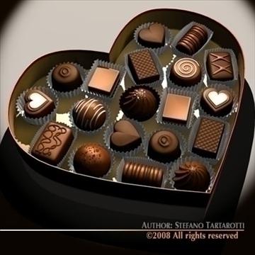 шоколад хайрцаг Valentine 3d загвар 3ds dxf c4d obj 86736