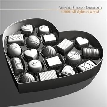 шоколад хайрцаг Valentine 3d загвар 3ds dxf c4d obj 86737