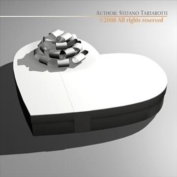 шоколад хайрцаг Valentine 3d загвар 3ds dxf c4d obj 86738