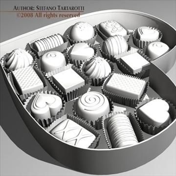 шоколад хайрцаг Valentine 3d загвар 3ds dxf c4d obj 86739