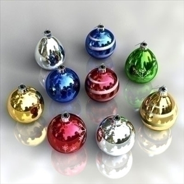 christmas-balls 3d model 3ds dxf fbx c4d obj 85323
