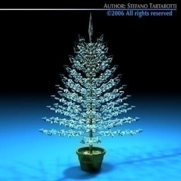 christmas crystal tree 3d model 3ds dxf c4d obj 78427