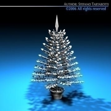 christmas crystal tree 3d model 3ds dxf c4d obj 78429