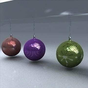 christmas orbs 3d model max 101706