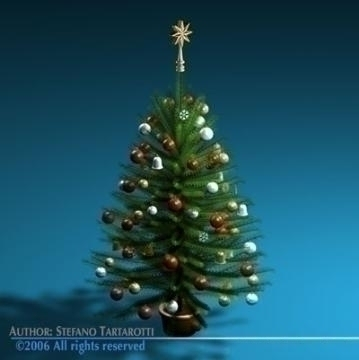 christmas tree 3d model 3ds c4d obj 77732