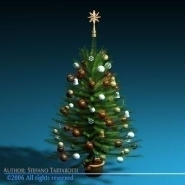 christmas tree 3d model 3ds c4d obj 77734