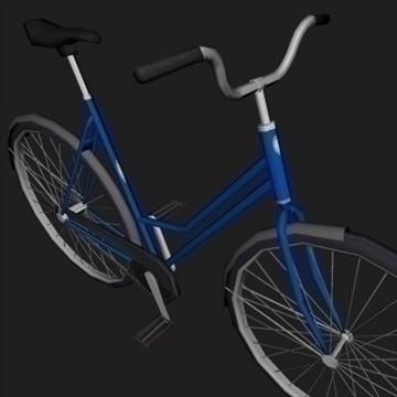classic bicycle 3d model 3ds 97361