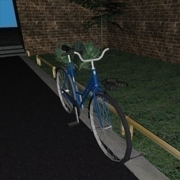 classic bicycle 3d model 3ds 97362