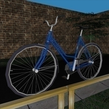 classic bicycle 3d model 3ds 97363