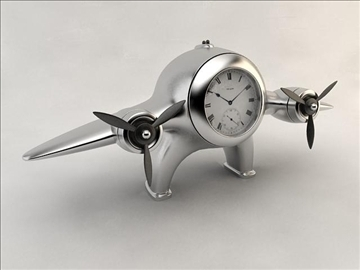 clock airplane 3d model 3ds max fbx obj 106720