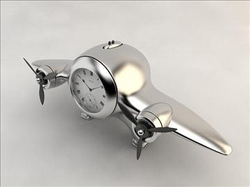 clock airplane 3d model 3ds max fbx obj 106721