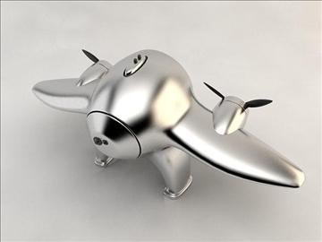 clock airplane 3d model 3ds max fbx obj 106722