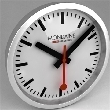 clock mondaine swiss railway 3d model 3ds max dwg fbx obj 99814
