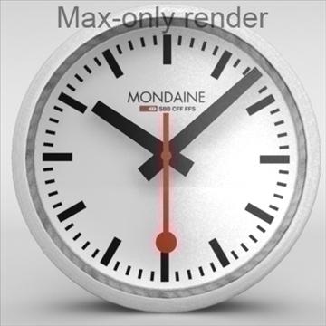 Clock Mondaine Swiss Railway Flatpyramid