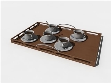 coffe plate 3d model ma mb obj 82772