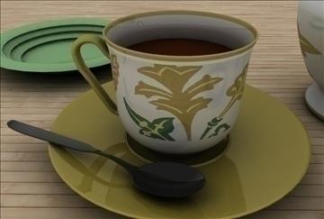 coffee scene 3d model 3ds c4d texture 86886