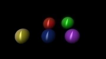 colorful reflective balls 3d model ma mb 106536