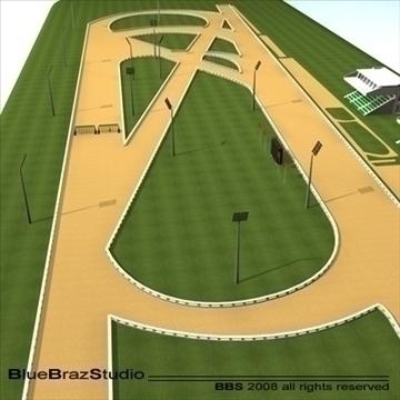 complete racetrack 3d model 3ds dxf c4d 109574