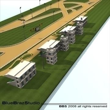 complete racetrack 3d model 3ds dxf c4d 109579