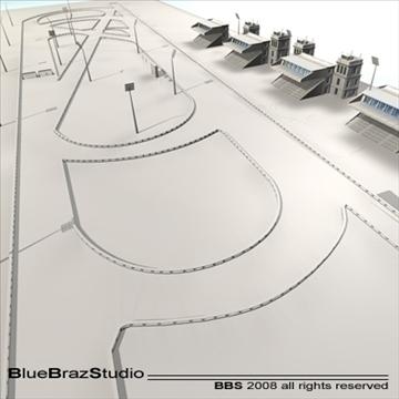 complete racetrack 3d model 3ds dxf c4d 109580