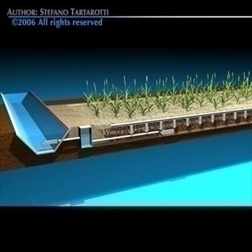 constructed wetland 3d model 3ds dxf c4d obj 82575
