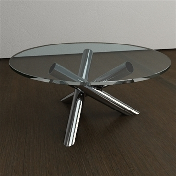 contemporary table from minotti collection 3d model 3ds max texture obj 110764