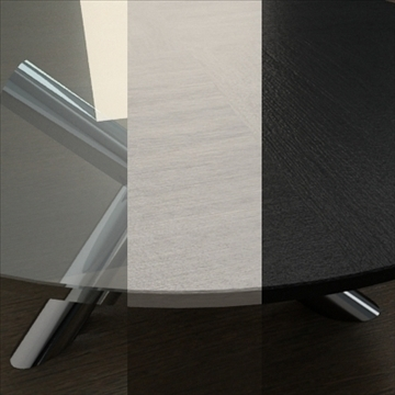 contemporary table from minotti collection 3d model 3ds max texture obj 110767