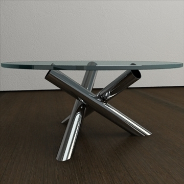 contemporary table from minotti collection 3d model 3ds max texture obj 110771