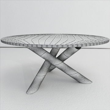 contemporary table from minotti collection 3d model 3ds max texture obj 110772