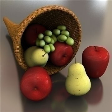 cornucopia horn of plenty 3d model 3ds max lwo hrc xsi obj 111003