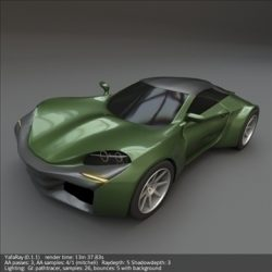 Coupsterr concept car ( 68.74KB jpg by futurex3d )