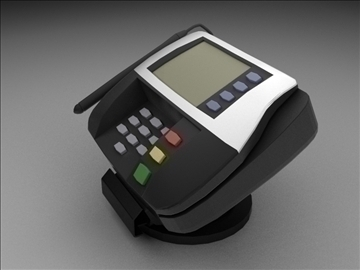 credit card reader 3d model max 102679