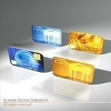 credit cards 3d model 3ds dxf c4d obj 99544