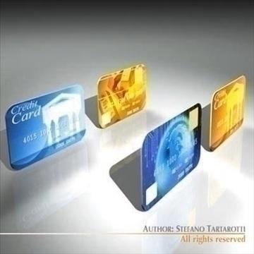 credit cards 3d model 3ds dxf c4d obj 99545