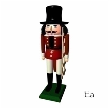 cristmas nut cracker 3d model dxf ma mb obj 84612