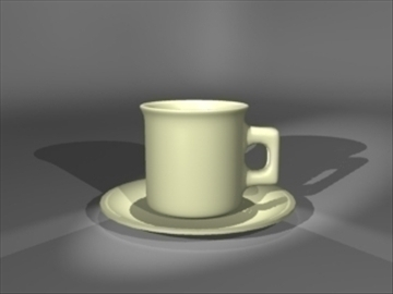 cup saucer 3d model 3ds dxf lwo 81096