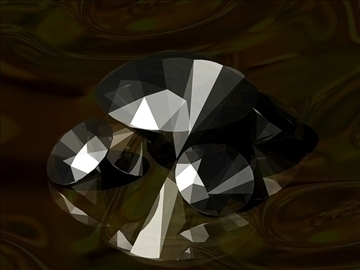 cut diamond kr 57 (round 57 faces) 3d model dwg 108170