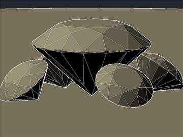 cut diamond kr 57 (round 57 faces) 3d model dwg 108171