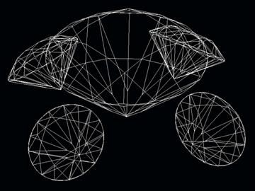 cut diamond kr 57 (round 57 faces) 3d model dwg 108173