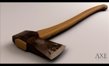 cutting axe 3d model 3ds max obj 110335