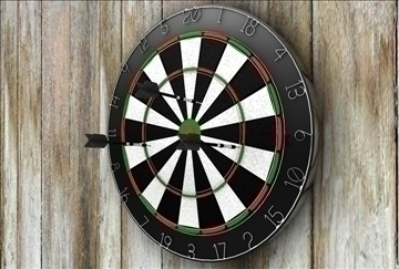 dartboard 3d model 3ds c4d texture 86861