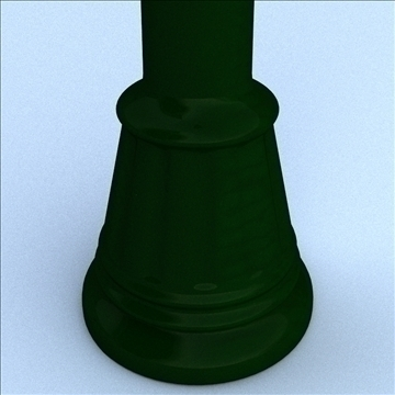 decorative post light 3d model 3ds max lwo hrc xsi obj 100508